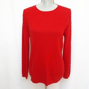 Tommy Hilfiger Red Knit Crew Sweater